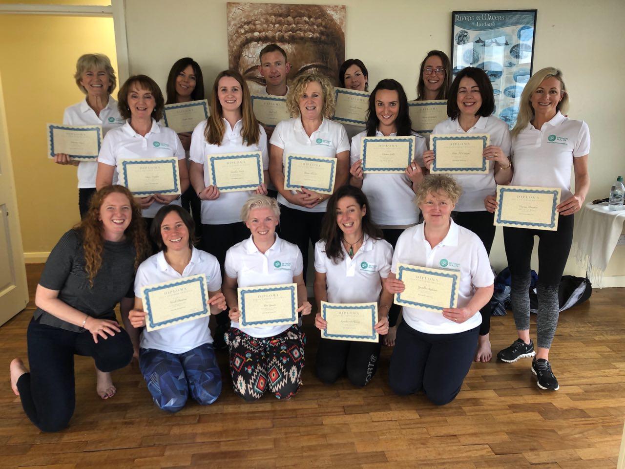 Graduation photo of Yoga Teacher Training in Galway