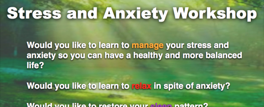 Stress and Anxiety Workshop